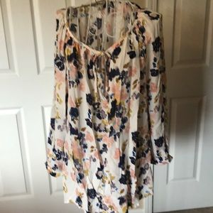Lucky Brand 2X Floral Blouse